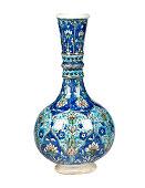 'blue antique vase,clipping path'