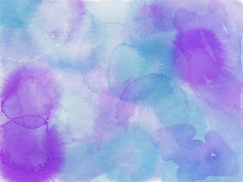 1131857558 istock photo Blue aqua pink purple and white abstract watercolor painting 924194684