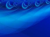 Blue, Aqua, Teal fractal abstract background