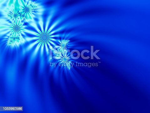 682471362 istock photo Blue, Aqua, Teal fractal flowers 1053992586
