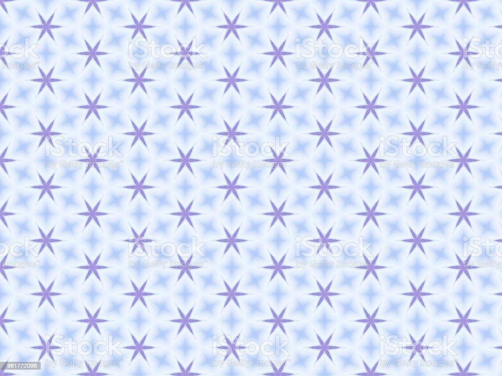 Blue Aqua White Decorative Repeating Pattern Wallpaper