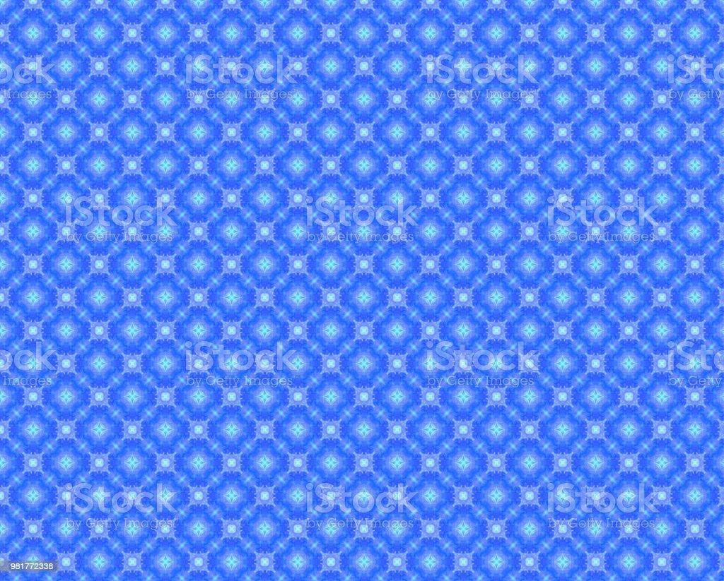 ブルーアクア ホワイト装飾的な繰り返しパターンの壁紙の背景 1970年