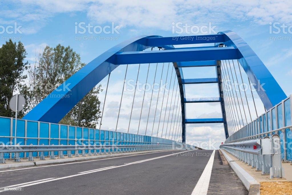 Blue Arch Bridge stock photo
