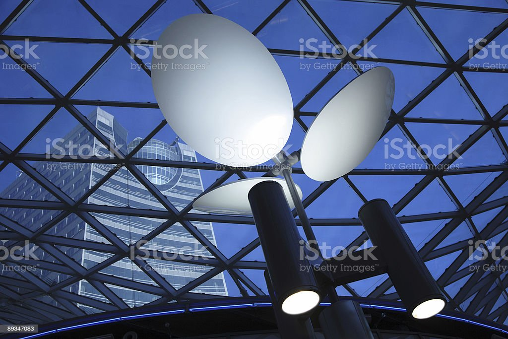 Blue Architectural Abstract royalty-free stock photo