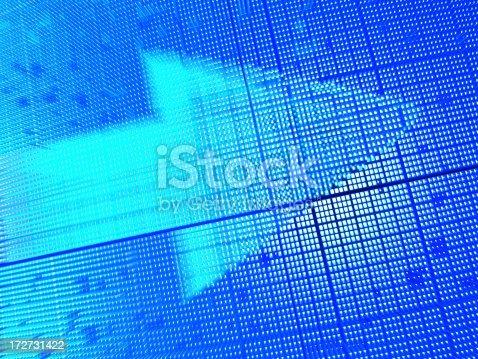 635932844 istock photo Blue arrow 172731422