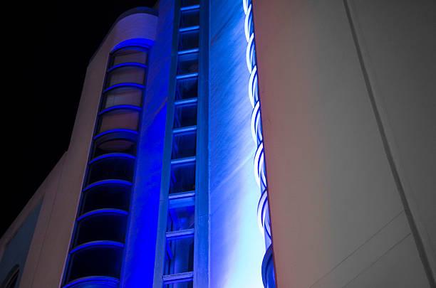 Blue Art Deco Detail stock photo
