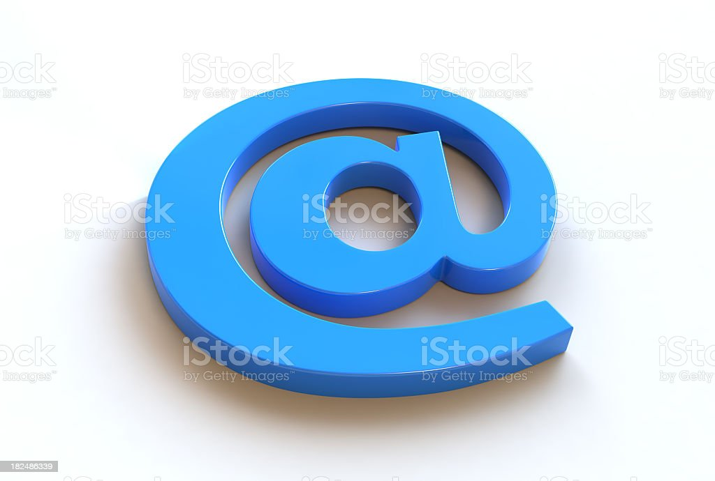 Blue At Sign royalty-free stock photo