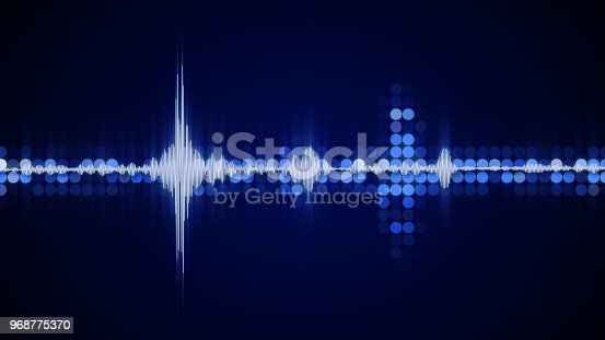 istock Blue audio waveform equalizer abstract party concept 968775370