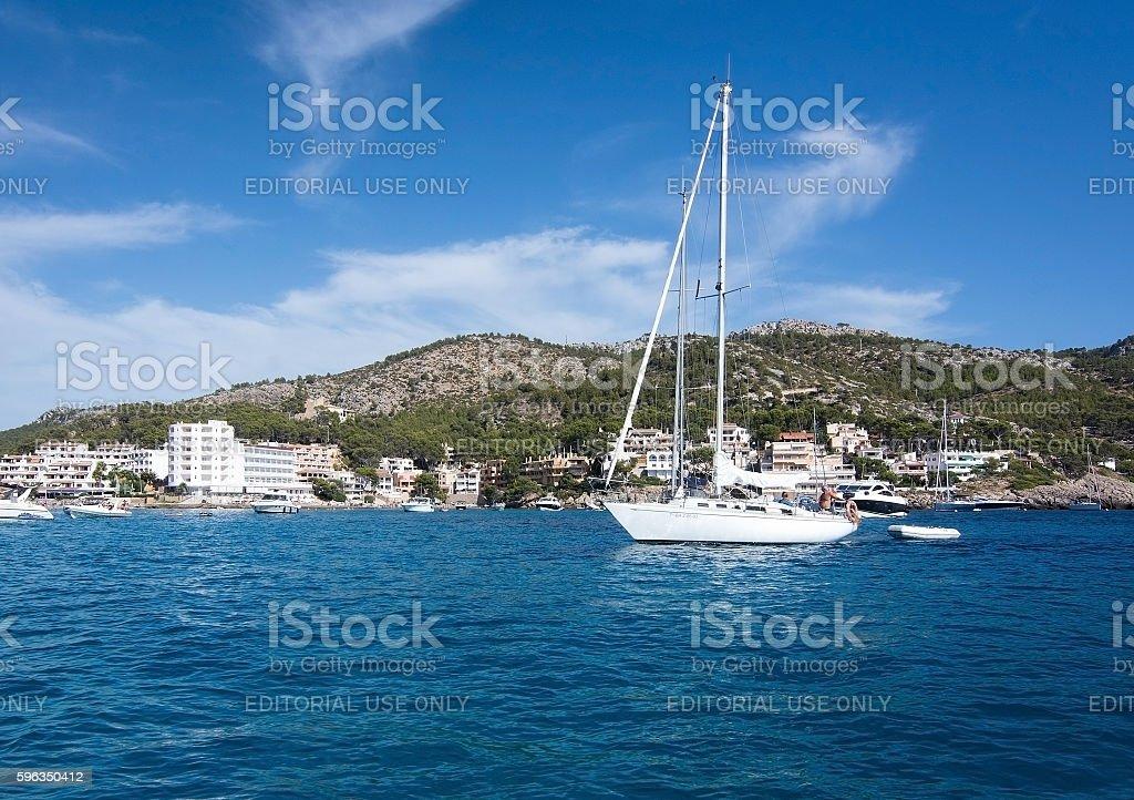 Blue azure Sant Elm Mallorca royalty-free stock photo