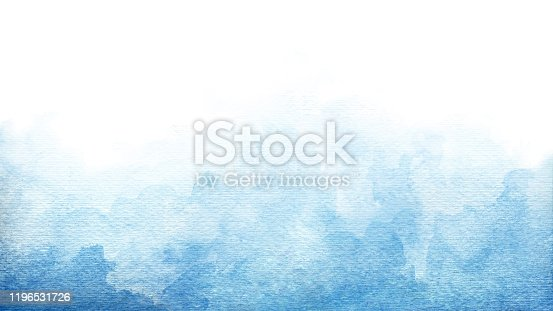 Blue azure turquoise abstract watercolor background for textures backgrounds and web banners design