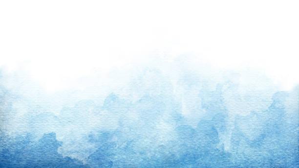 fond d'aquarelle abstraite turquoise bleu azur pour des arrière-plans de textures et la conception de bannières de web - bleu photos et images de collection