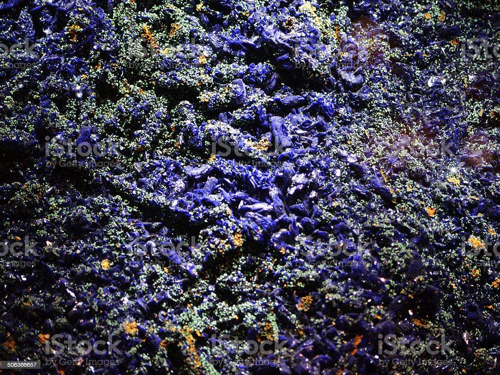Blue Azurite Macro royalty-free stock photo