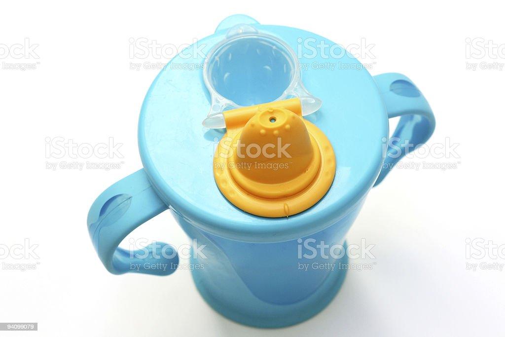 Blue baby beaker stock photo