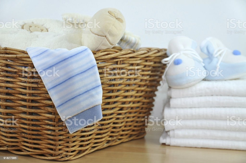 Blue Baby Clothes stock photo