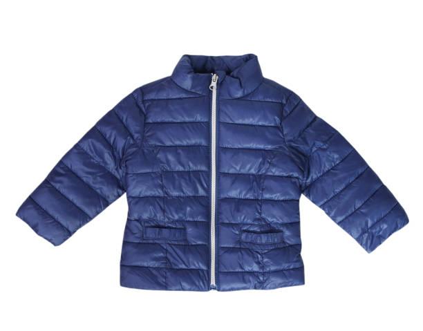 blue baby coat child fashion wear isolated nobody. - giacca foto e immagini stock
