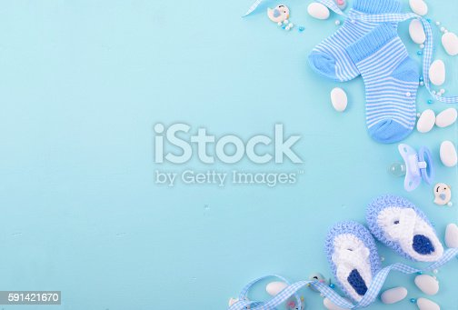 blue baby shower nursery background it s a boyのストックフォトや