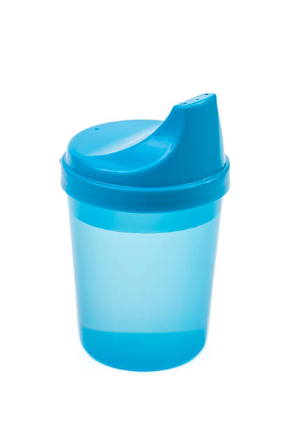 Blue Baby Sippy Cup stock photo
