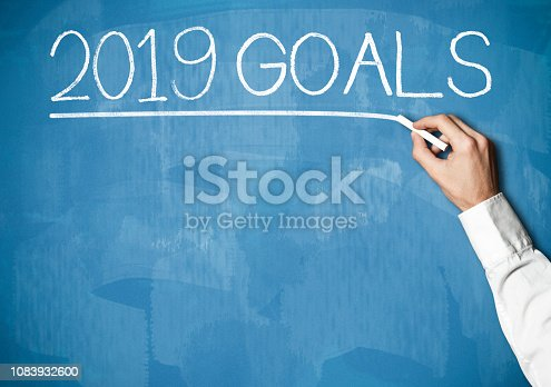 1054929988 istock photo 2019 GOALS /  Blue background concept (Click for more) 1083932600