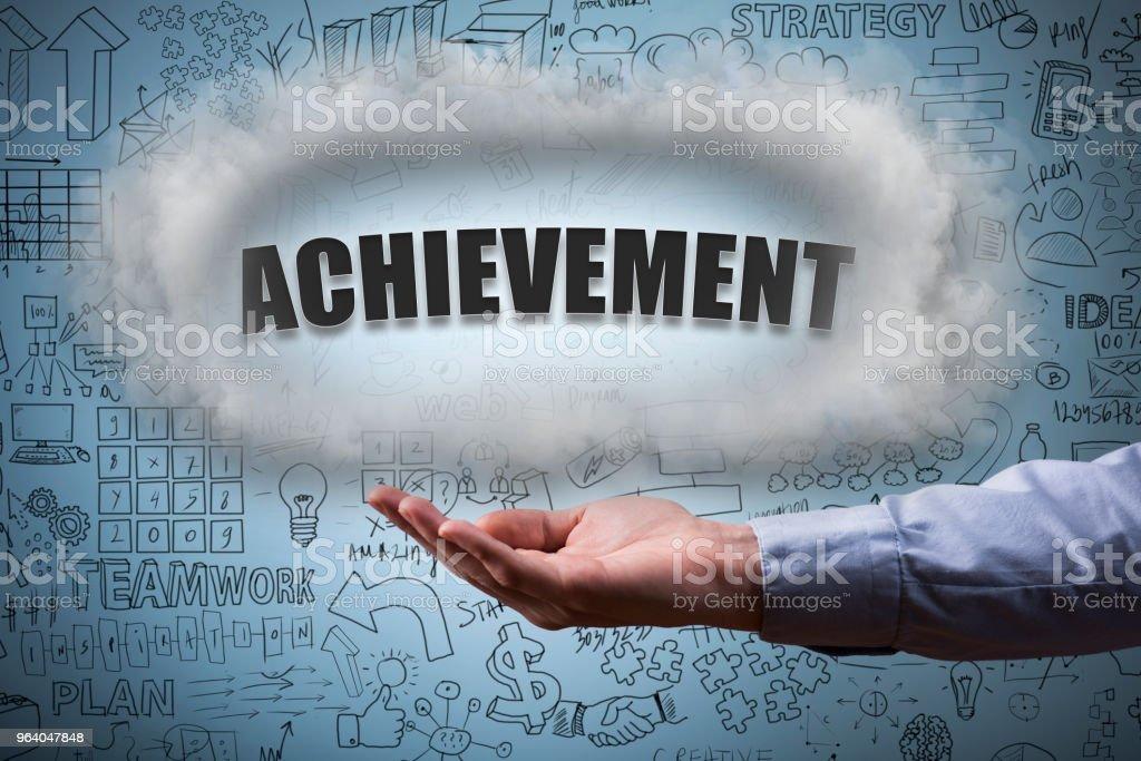 ACHIEVEMNET / Blue background concept (Click for more) - Royalty-free Achievement Stock Photo