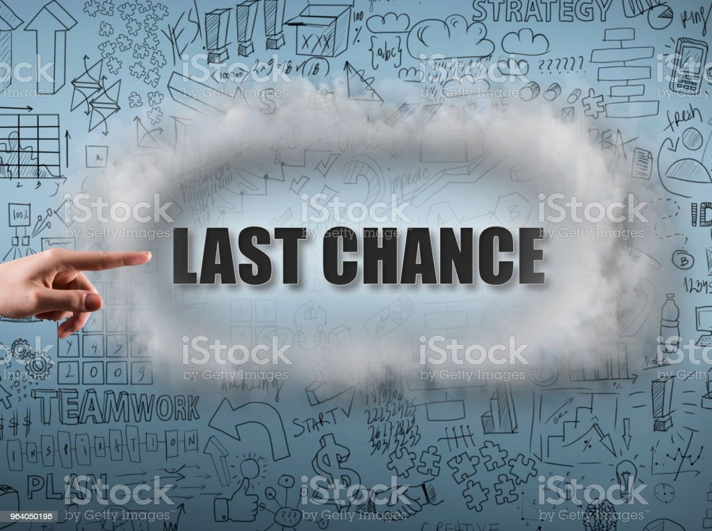 LAST - CHANCE / Blue background concept (Click for more) - Royalty-free Adult Stock Photo