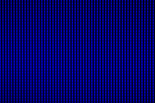 blauer hintergrund aus zeile gesetzt abstrakte darstellung des musters und der zerstörung - dekoration rund um den fernseher stock-fotos und bilder