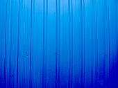 blue background of Aluminium wall