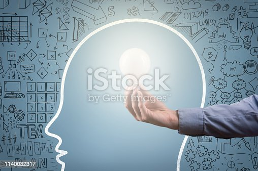 istock IDEA CONCEPT / Blue background (Click for more) 1140032317