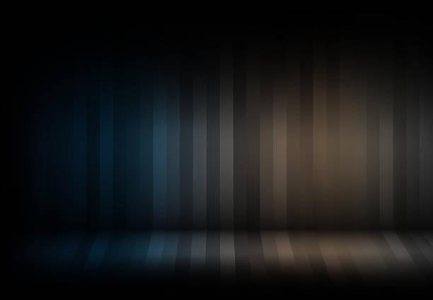 Blue background Striped pattern design. stock photo