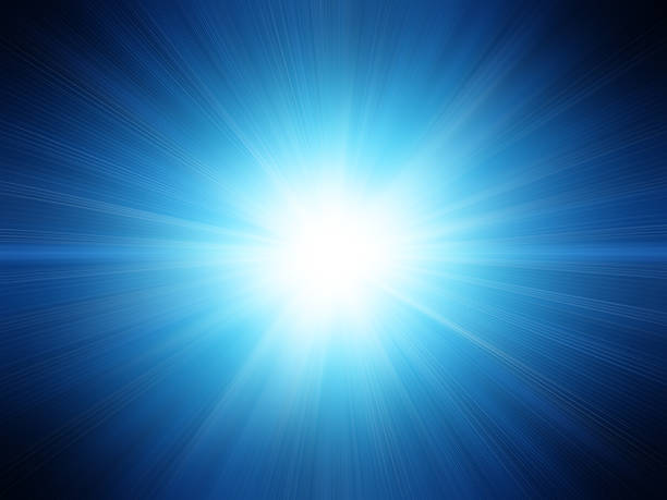 a blue background with a white flash - flash stock photos and pictures
