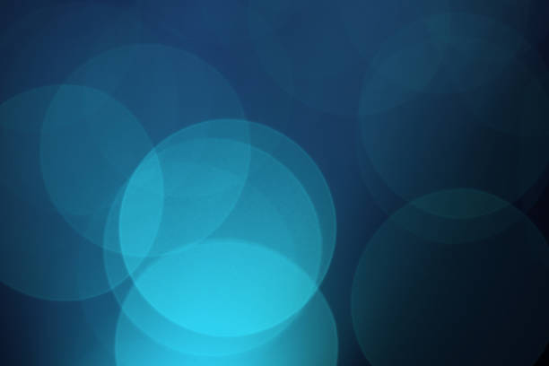 blue background with overlapping circles of shades of blue  - disco lights stock photos and pictures