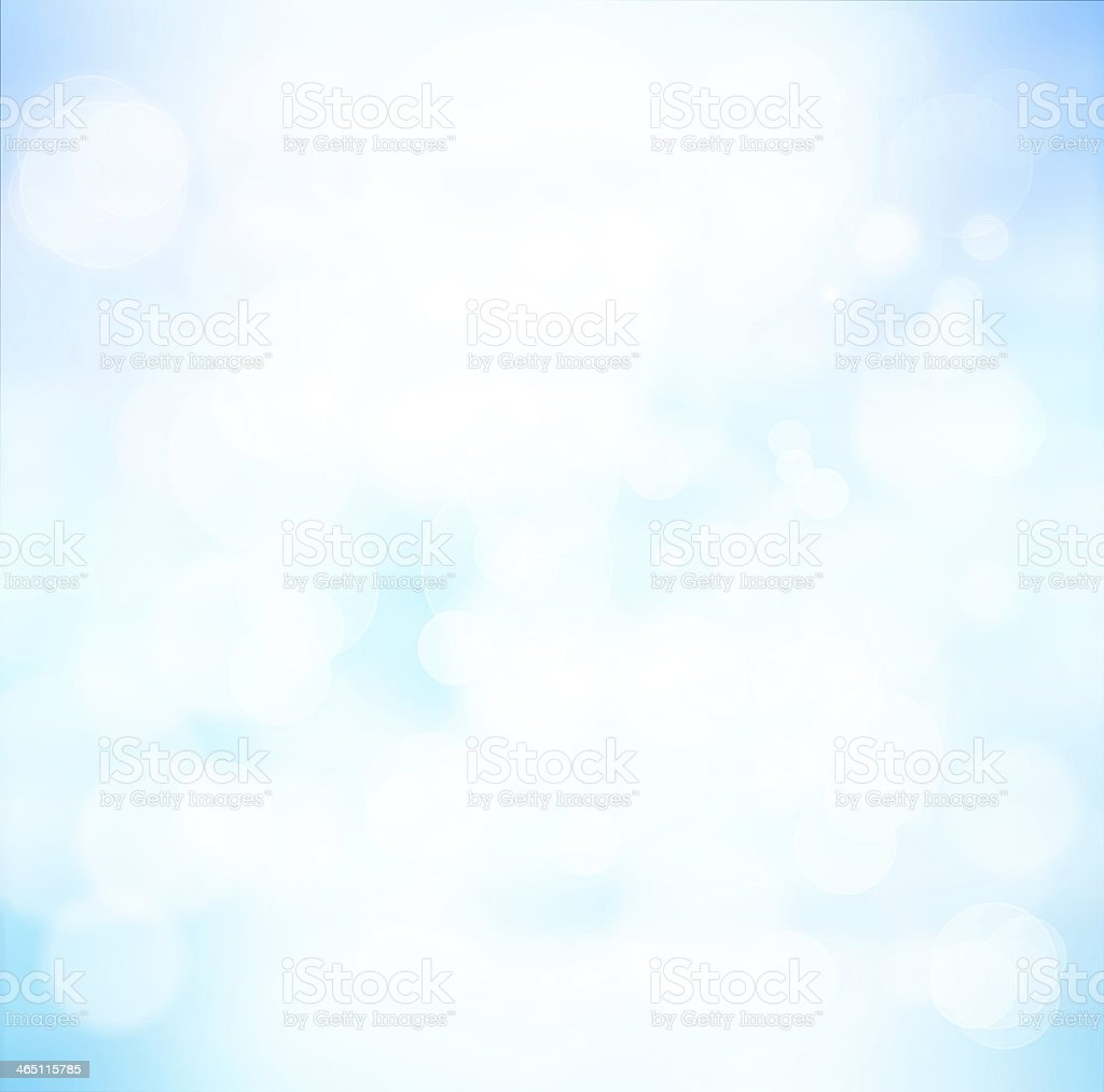 Blue background with white bubbles stock photo