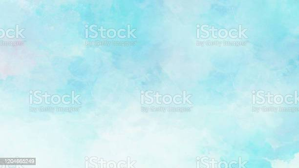 Photo of Blue background with white spots .Texture or background
