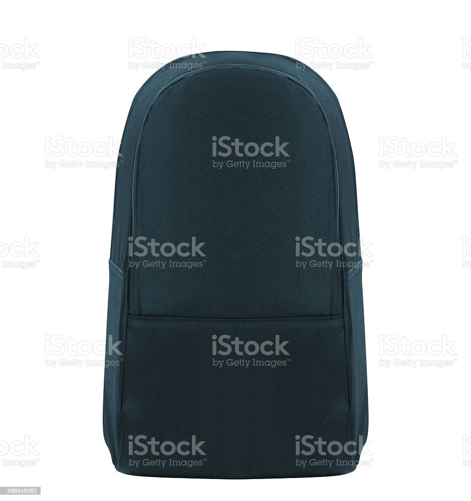 blue backpack, isolated on white royalty-free stock photo