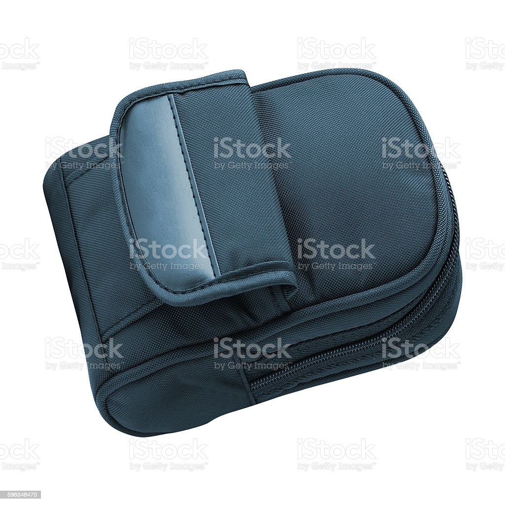 blue backpack, isolated royalty-free stock photo