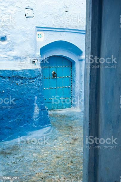 Blue Backstreet in Chefchauen, Morocco