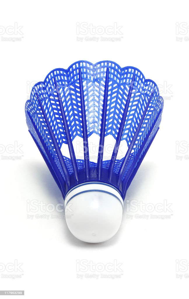 Blue Badminton Shuttlecock (Birdie) royalty-free stock photo