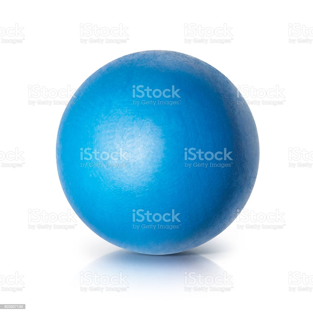 Blue ball 3D illustration stock photo