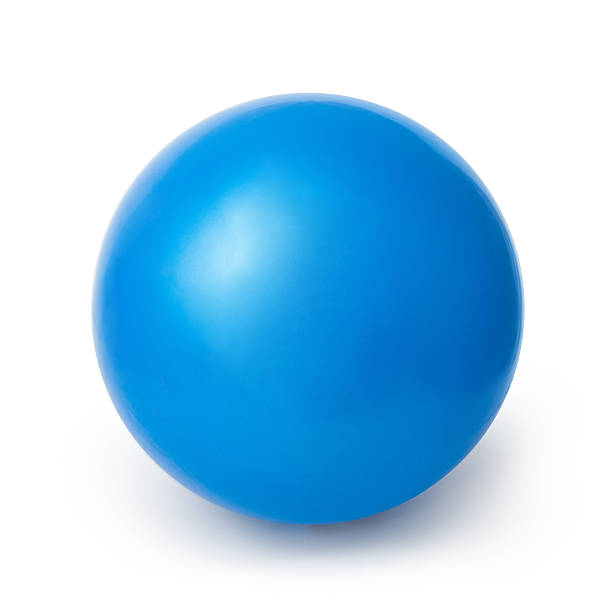blue ball isolated on a white background - ball stock photos and pictures