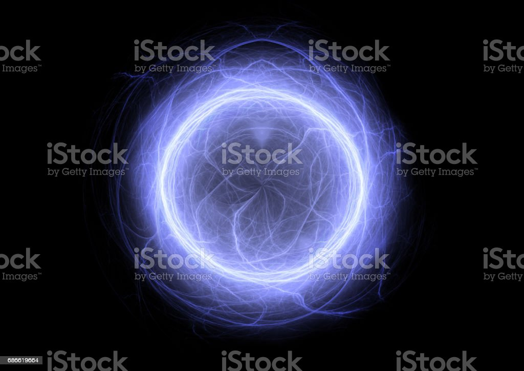 Blue ball lightning, abstract electrical element royalty-free stock photo