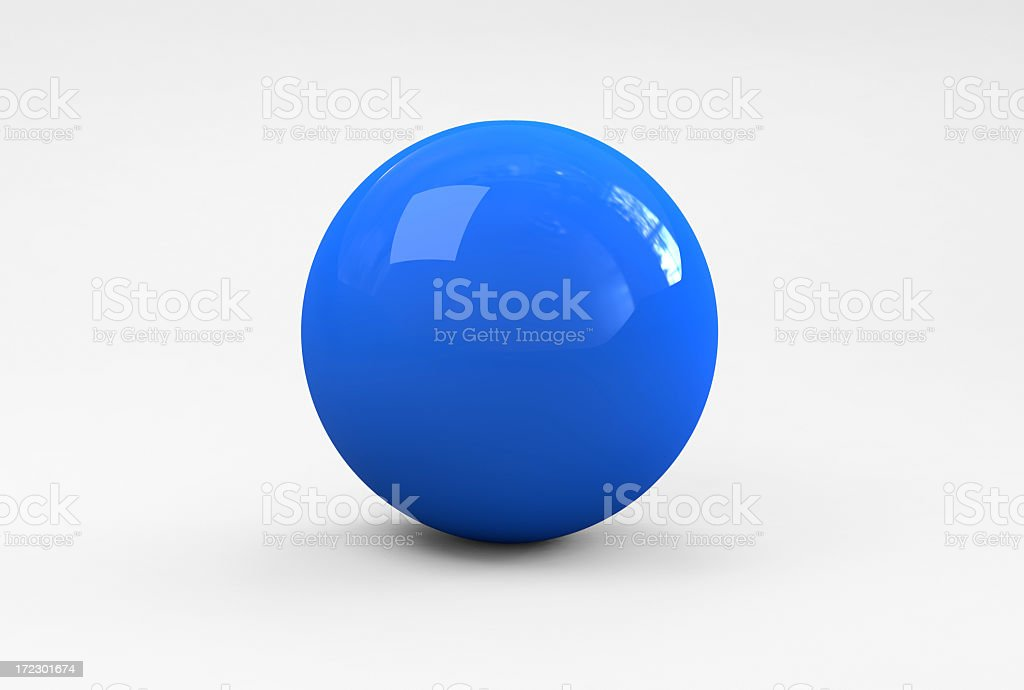 Blue Ball stock photo