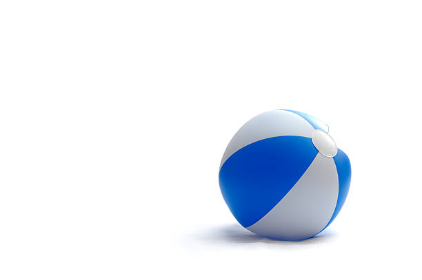 blue ball - beach ball stock photos and pictures