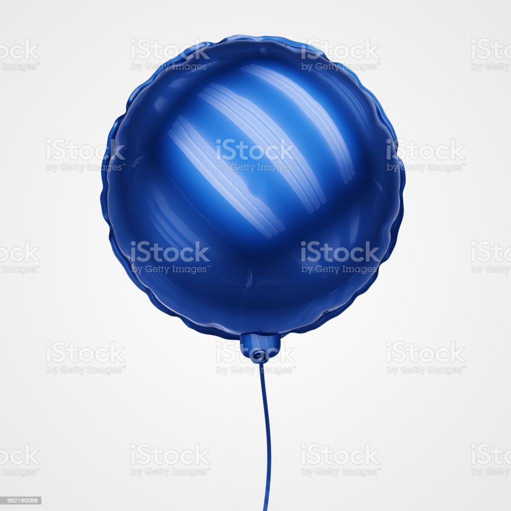 Blue Balloon Floating in front view - Stock Image stock photo