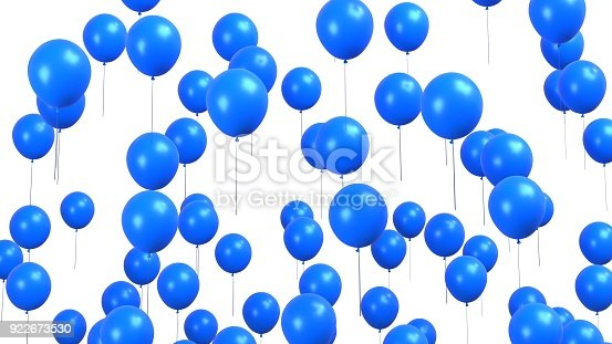 istock Blue balloons isolated on white 922673530