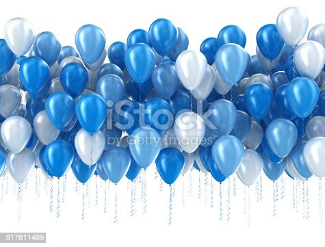 istock Blue balloons isolated 517811469