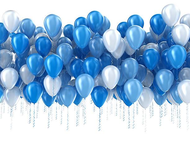 blauen ballons isoliert - bund stock-fotos und bilder