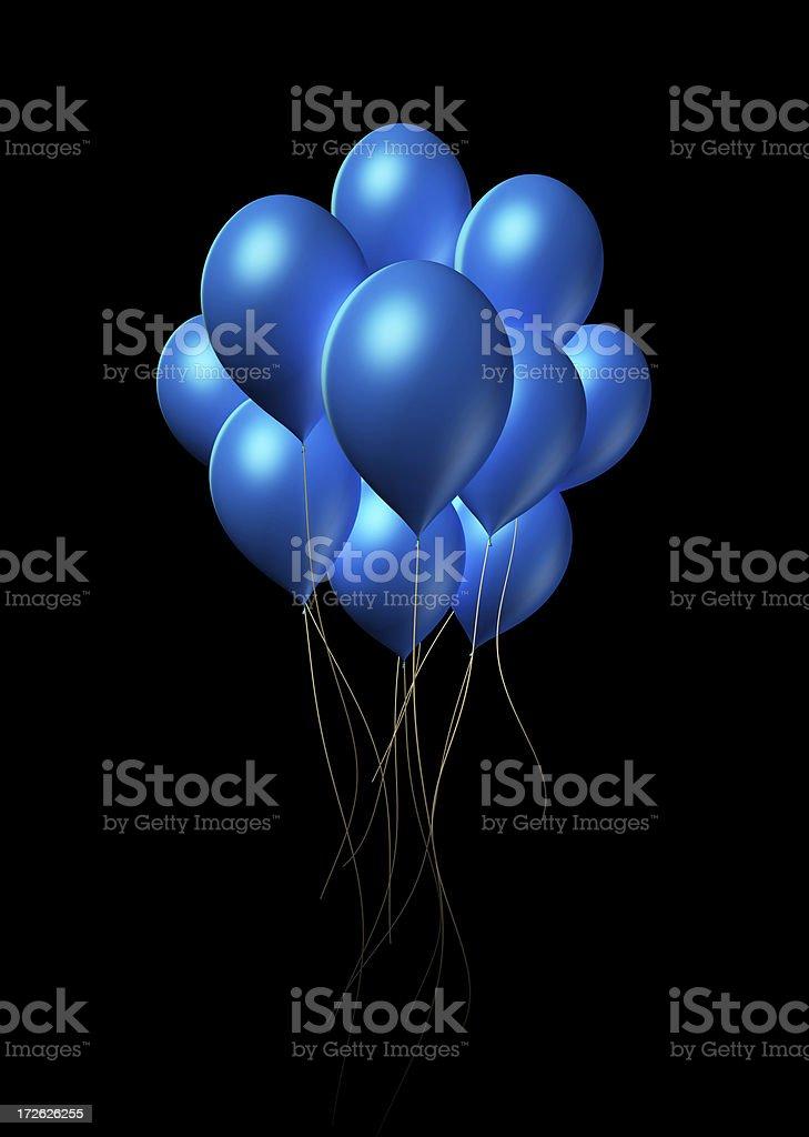 Blue Balloons royalty-free stock photo