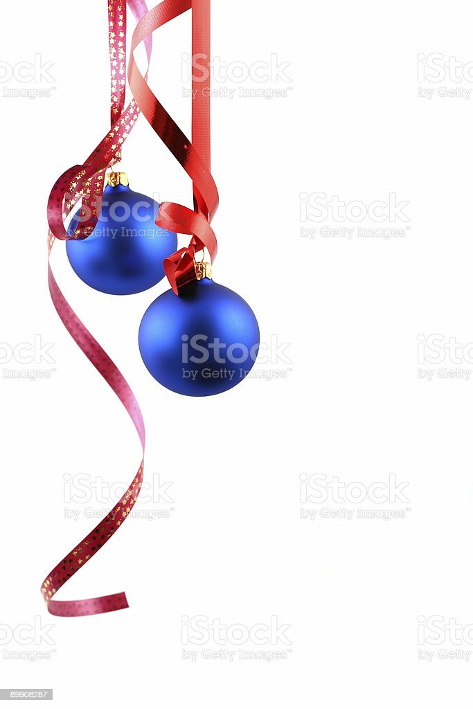 Palle di Natale blu Decorazione foto stock royalty-free