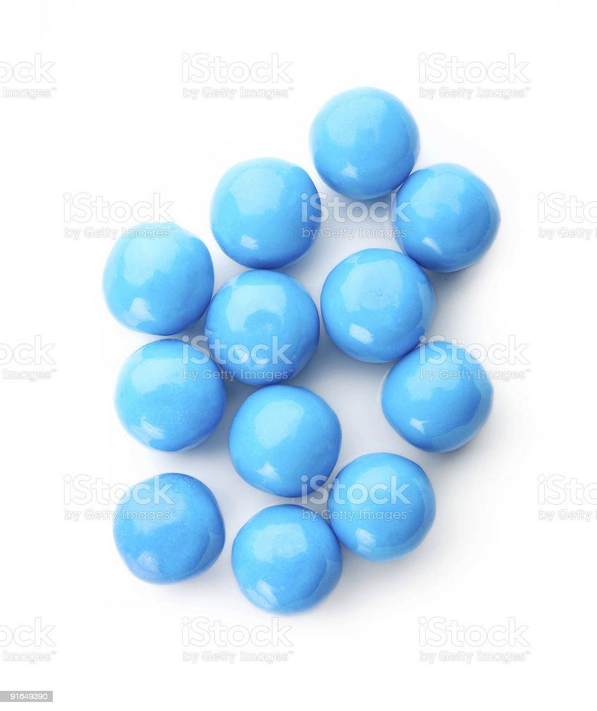 Blue balls on white royalty-free stock photo