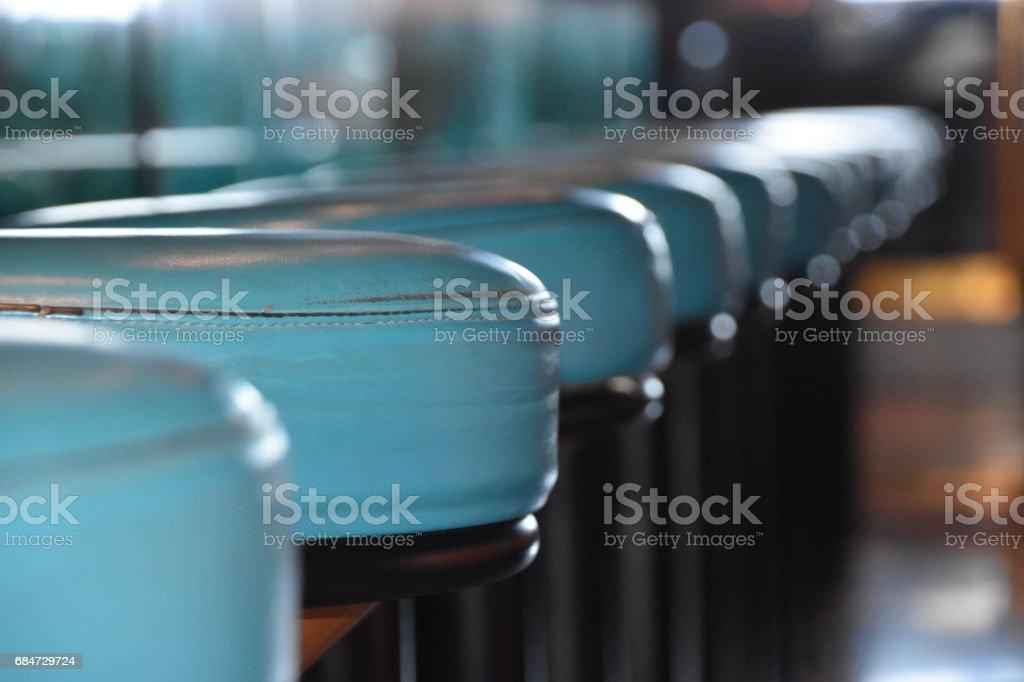 Blue bar chairs stock photo