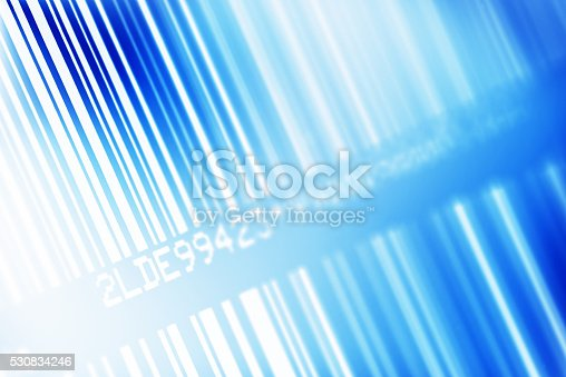 istock Blue Barcode 530834246